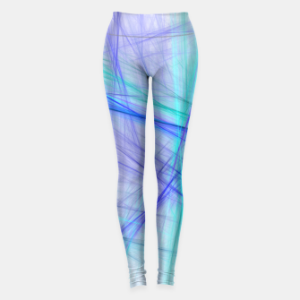Miniatur Abstract Fractal Art Leggings, Live Heroes