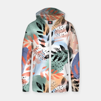 Thumbnail image of Abstract Tropical Zip up hoodie, Live Heroes