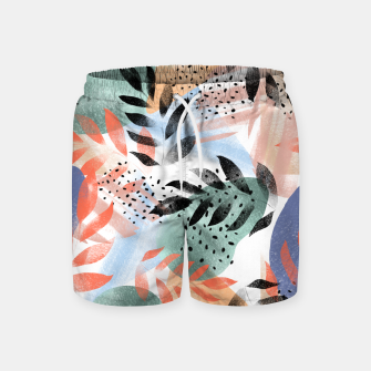 Thumbnail image of Abstract Tropical Swim Shorts, Live Heroes