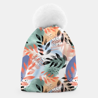 Thumbnail image of Abstract Tropical Beanie, Live Heroes