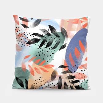 Thumbnail image of Abstract Tropical Pillow, Live Heroes