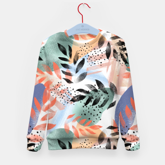 Thumbnail image of Abstract Tropical Kid's sweater, Live Heroes