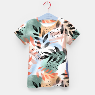 Thumbnail image of Abstract Tropical Kid's t-shirt, Live Heroes