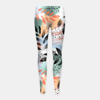 Imagen en miniatura de Abstract Tropical Girl's leggings, Live Heroes