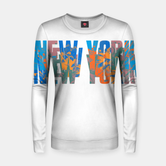 new york Women sweater obraz miniatury
