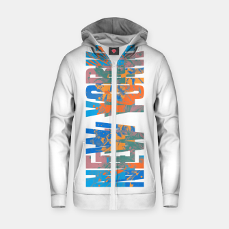 new york Zip up hoodie obraz miniatury