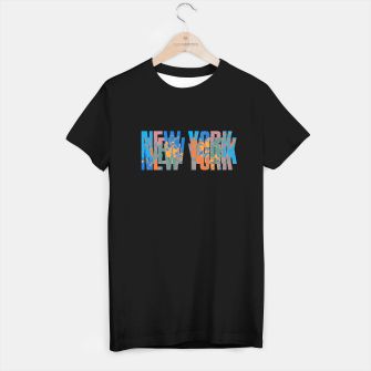new york T-shirt regular obraz miniatury