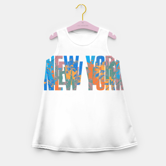 Miniaturka new york Girl's summer dress, Live Heroes