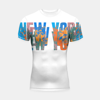 Thumbnail image of new york Shortsleeve rashguard, Live Heroes