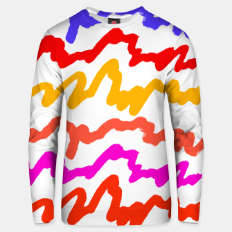 Thumbnail image of Multicolored Scribble Abstract Pattern Unisex sweater, Live Heroes