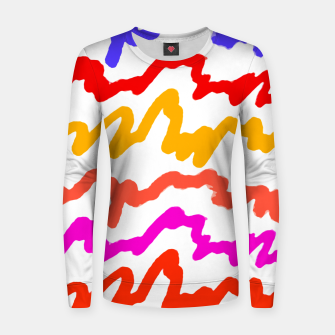 Thumbnail image of Multicolored Scribble Abstract Pattern Women sweater, Live Heroes