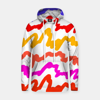 Thumbnail image of Multicolored Scribble Abstract Pattern Hoodie, Live Heroes