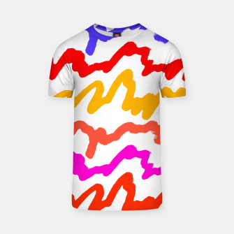 Thumbnail image of Multicolored Scribble Abstract Pattern T-shirt, Live Heroes