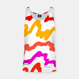 Miniaturka Multicolored Scribble Abstract Pattern Tank Top, Live Heroes
