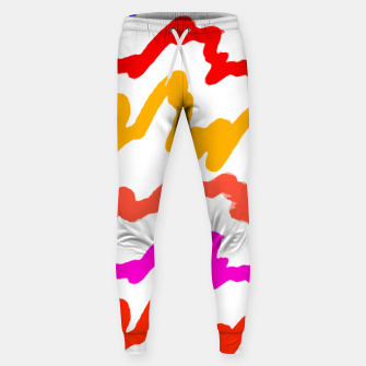 Miniatur Multicolored Scribble Abstract Pattern Sweatpants, Live Heroes