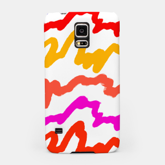 Thumbnail image of Multicolored Scribble Abstract Pattern Samsung Case, Live Heroes