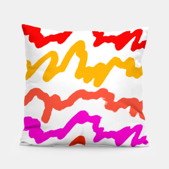 Thumbnail image of Multicolored Scribble Abstract Pattern Pillow, Live Heroes