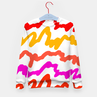 Thumbnail image of Multicolored Scribble Abstract Pattern Kid's sweater, Live Heroes
