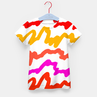 Miniaturka Multicolored Scribble Abstract Pattern Kid's t-shirt, Live Heroes