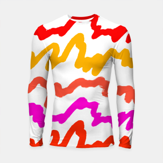 Thumbnail image of Multicolored Scribble Abstract Pattern Longsleeve rashguard , Live Heroes