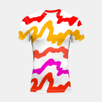 Miniaturka Multicolored Scribble Abstract Pattern Shortsleeve rashguard, Live Heroes