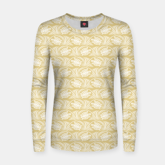 Turtles in the ocean, sandy color marine print Women sweater thumbnail image