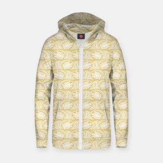 Turtles in the ocean, sandy color marine print Zip up hoodie thumbnail image