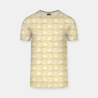 Turtles in the ocean, sandy color marine print T-shirt thumbnail image