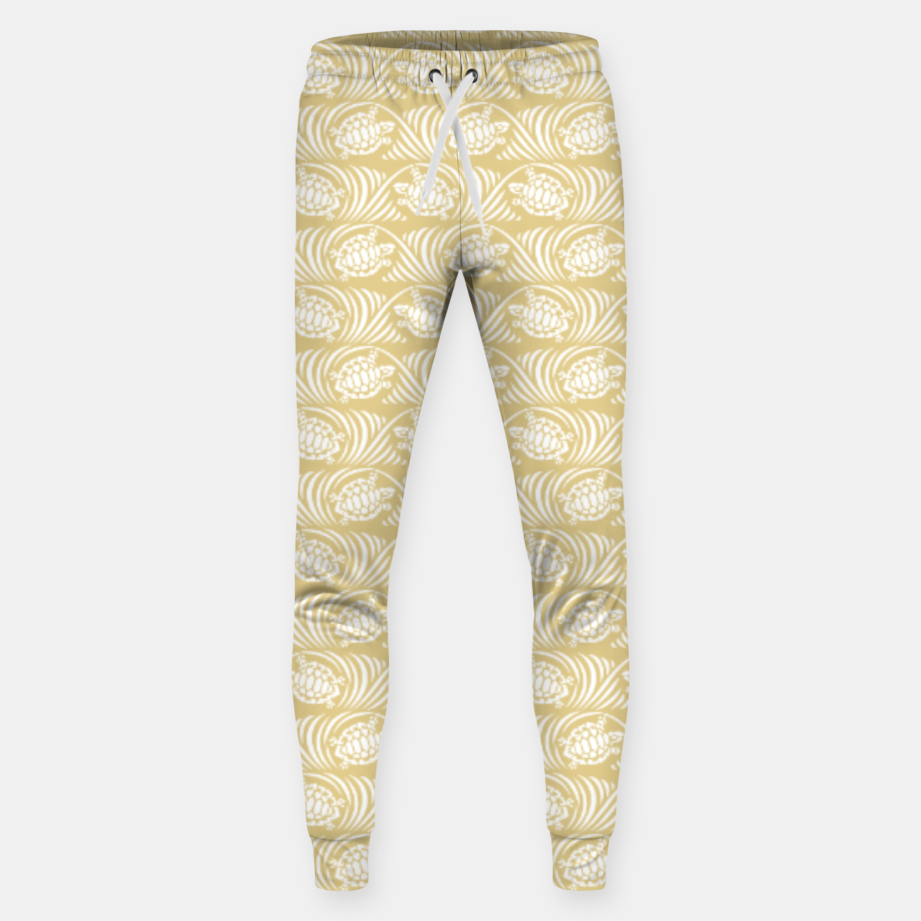 Image of Turtles in the ocean, sandy color marine print Sweatpants - Live Heroes