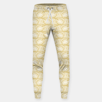 Turtles in the ocean, sandy color marine print Sweatpants thumbnail image