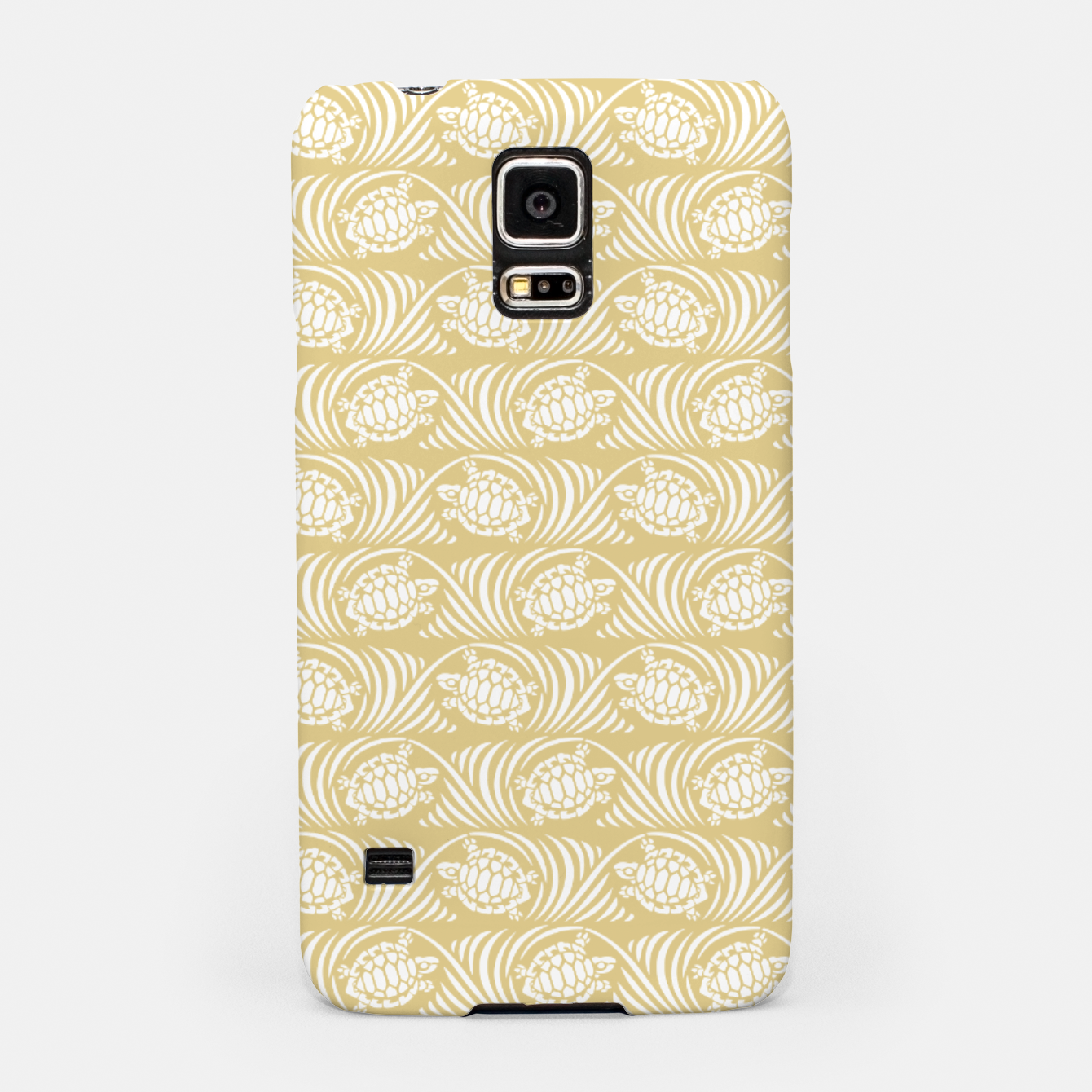 Image of Turtles in the ocean, sandy color marine print Samsung Case - Live Heroes