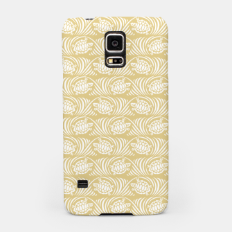 Turtles in the ocean, sandy color marine print Samsung Case thumbnail image