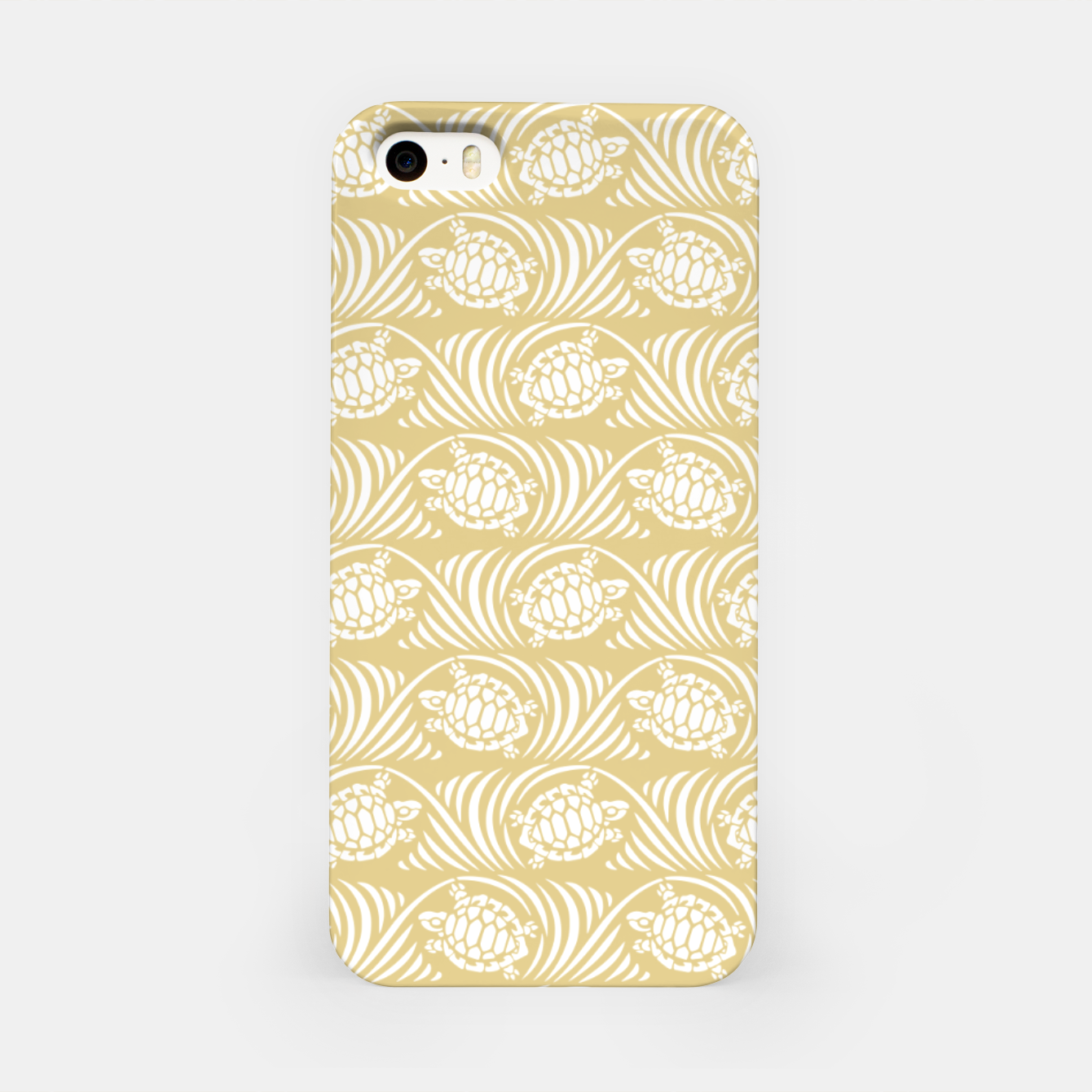 Image of Turtles in the ocean, sandy color marine print iPhone Case - Live Heroes