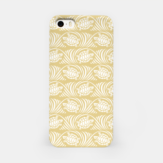 Turtles in the ocean, sandy color marine print iPhone Case thumbnail image