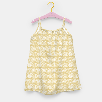 Turtles in the ocean, sandy color marine print Girl's dress thumbnail image