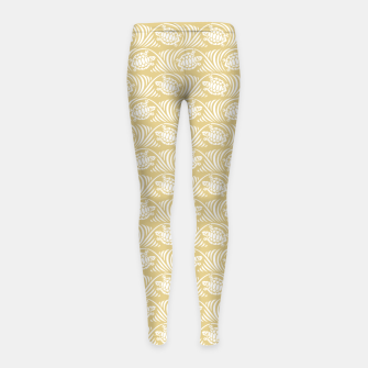 Turtles in the ocean, sandy color marine print Girl's leggings thumbnail image