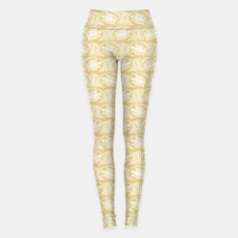 Turtles in the ocean, sandy color marine print Leggings thumbnail image