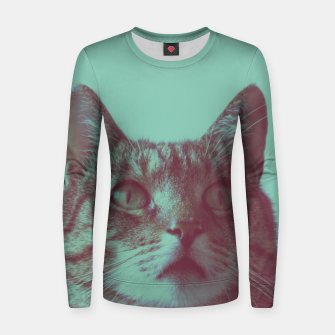 Thumbnail image of Staring cat Women sweater, Live Heroes