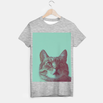 Miniatur Staring cat T-shirt regular, Live Heroes