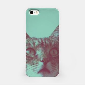 Miniatur Staring cat iPhone Case, Live Heroes