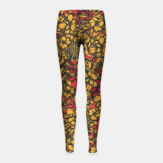 Thumbnail image of Floral Eye Girl's leggings, Live Heroes