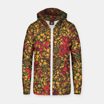 Thumbnail image of Just Flowers Zip up hoodie, Live Heroes