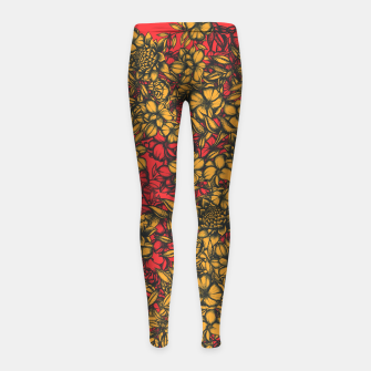 Imagen en miniatura de Just Flowers Girl's leggings, Live Heroes