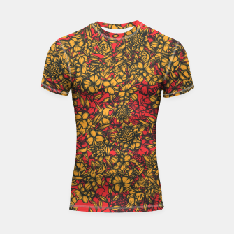 Thumbnail image of Just Flowers Shortsleeve rashguard, Live Heroes