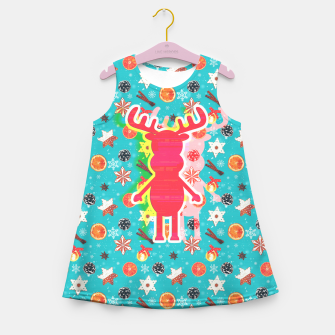 Thumbnail image of Rudy's Wonderland, the happy contour one Girl's summer dress, Live Heroes
