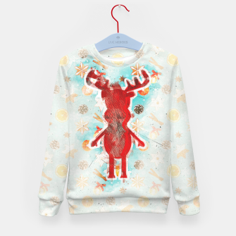 Miniaturka Rudy's Wonderland, the red contour one Kid's sweater, Live Heroes
