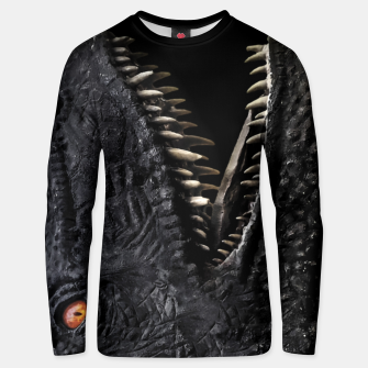 Thumbnail image of Trex Dinosaur Head Dark Poster Unisex sweater, Live Heroes