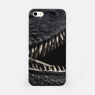 Thumbnail image of Trex Dinosaur Head Dark Poster iPhone Case, Live Heroes