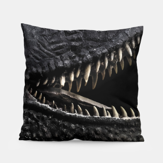 Thumbnail image of Trex Dinosaur Head Dark Poster Pillow, Live Heroes