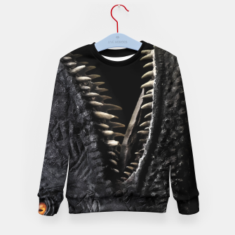 Thumbnail image of Trex Dinosaur Head Dark Poster Kid's sweater, Live Heroes